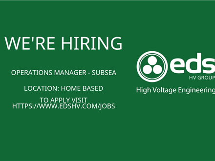 We`re Hiring - Operations Manager - Subsea